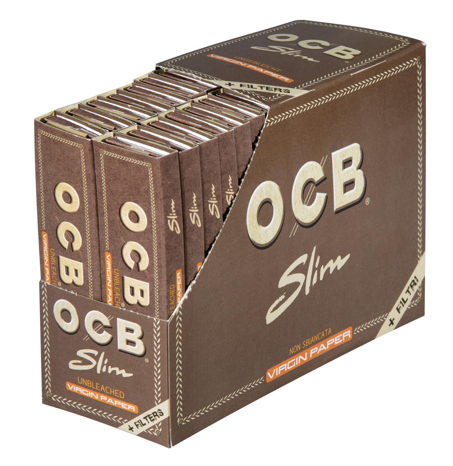 OCB Virgin 32 x 32 Slim Blättchen Filter Tips Unbleached Long Papers