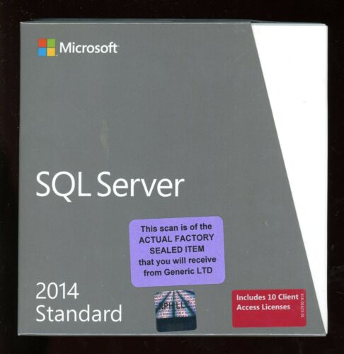 Factory Sealed - 228-10255 Microsoft SQL Server 2014 Standard 10 CAL