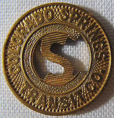 Vintage Colorado Springs Transit Token Letter S in Center Whotoldya Lot SP720