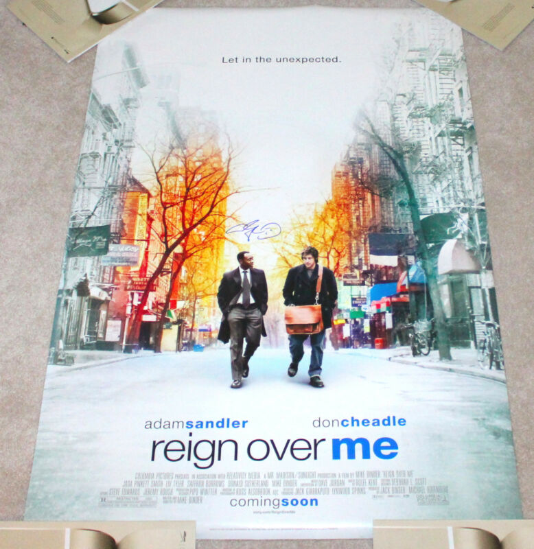 ADAM SANDLER SIGNED AUTHENTIC FULL SIZE 'REIGN OVER ME' MOVIE POSTER w/COA