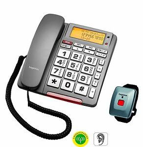 Hagenuk BIG 64 Einzelleitung Schnurtelefon Seniorentelefon SOS-Taste Mini-Funk.