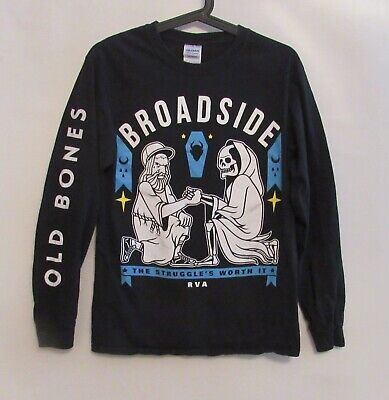 BROADSIDE RVA Old Bones Long Sleeve Black T-shirt - Size SMALL