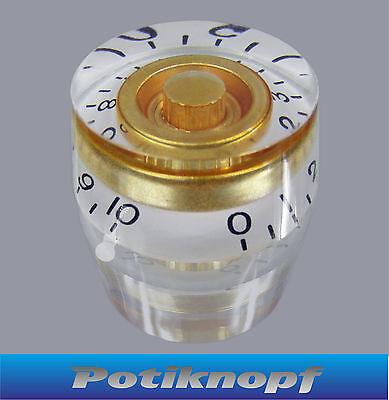 Speed Knob - weiß mit gold - SK-2-WH-GD - Potiknopf - Knopf - Poti - Knob -