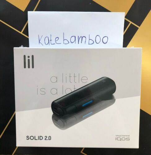 (Fast Shipping) Lil solid 2.0 tobacco heating system (colour: graphite, blue)