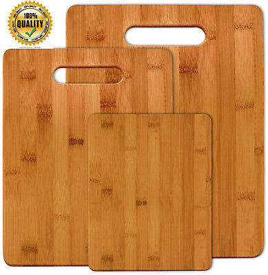 Big Wood Boards (Kitchen Bamboo Cutting Board Set Wood Small Large Big Serving Chopping Block )