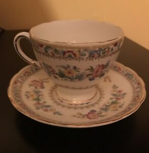 """Foley Fine Bone China """"Ming Rose"""" Cup and Saucer"""
