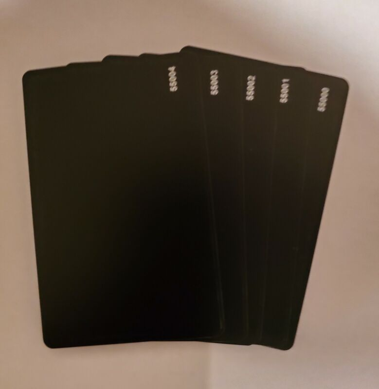 100 Black Keycards Proximity Card- Works with HID® 1326 1386 26-Bit H10301
