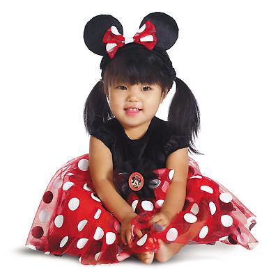 Minnie Maus Kleinkind Rot Kostüm Kamee und Stirnband Halloween - Minnie Kostüm Kleinkind