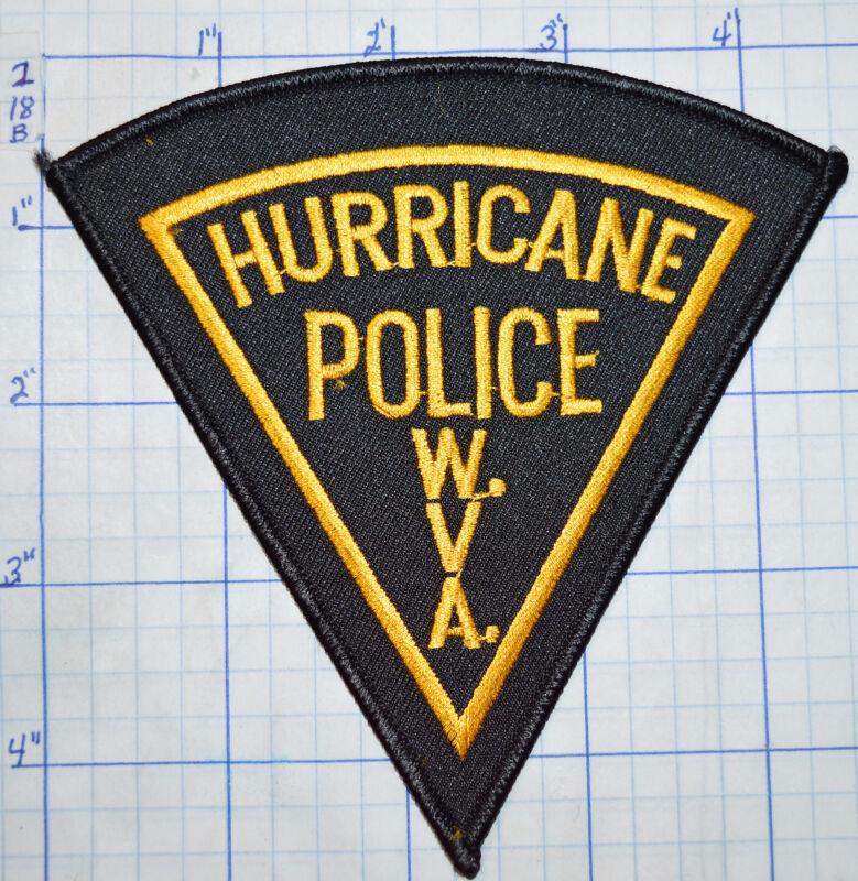 WEST VIRGINIA, HURRICANE POLICE DEPT BLACK & GOLD PATCH
