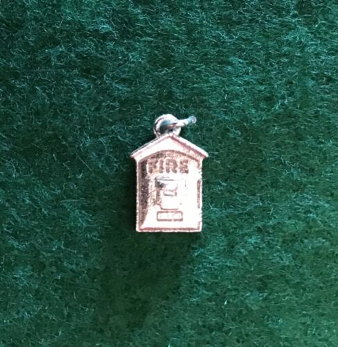 Gamewell Fire Box Sterling Silver Silver Charm for Charm Bracelet