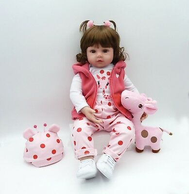 Reborn Toddler Doll 18''45cm Realistic Handmade Lifelike Girl Presents Xmas Gift