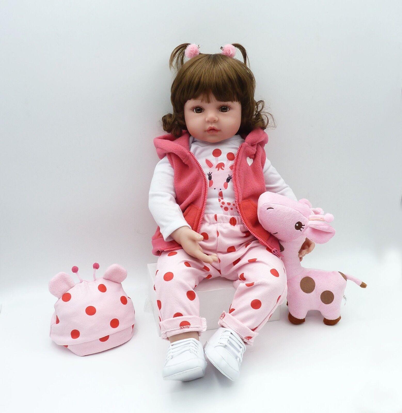 Купить Reborn Toddler Doll 18''45cm Realistic Handmade Lifelike Girl Presents Xmas Gift