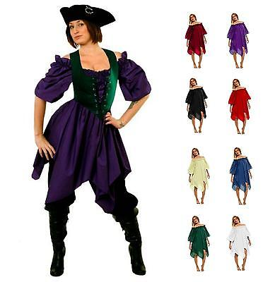 RENAISSANCE COSTUME DRESS-UP MEDIEVAL PIRATE PEASANT WENCH HANDKERCHIEF CHEMISE](Renaissance Peasant Blouse)