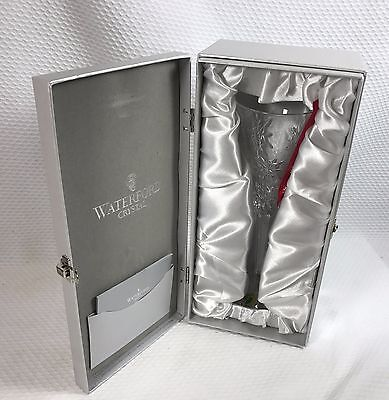 WATERFORD CRYSTAL SNOWFLAKE WISHES JOY TOASTING CHAMPAGNE FLUTE NEVER USED BOX