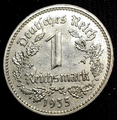 (399) GERMAN 3rd REICH 1935 A - 1 REICHSMARK  WWII COIN  *
