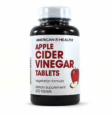Apple Cider Vinegar 200 Tablets - American Health Apple Cider Vinegar Tabs Natural Vegetarian Formula 200 Tablets