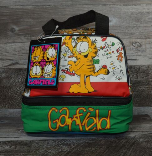 Paws Garfield School Sandwich Snack Insulated Lunch Bag Vintage ?