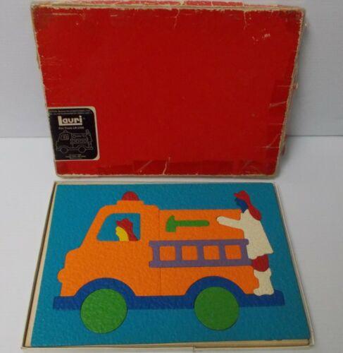 1989 LAURI Foam Puzzle FIRE TRUCK LR-2168