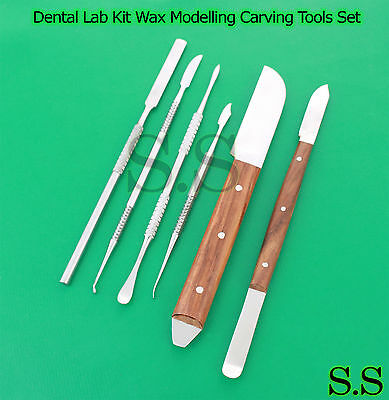 Dental Lab Kit Wax Modelling Carving Tools Set Instruments Stainless Dn-2009