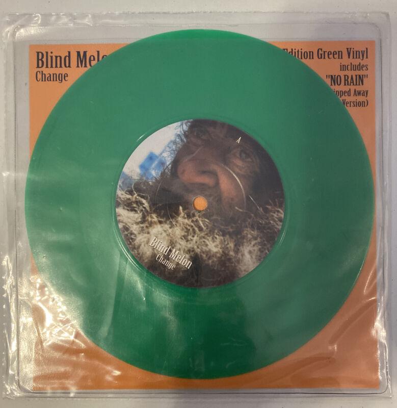 Blind Melon Change/No Rain Green 7 inch Uk Limited Edition Vinyl Record!