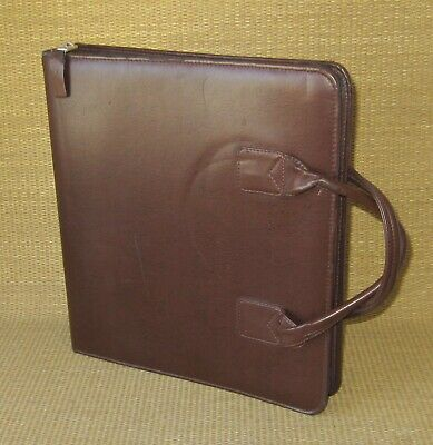 Monarch Franklin Coveyquest Brown Sim. Leather 1.75 Rings Zip Plannerbinder