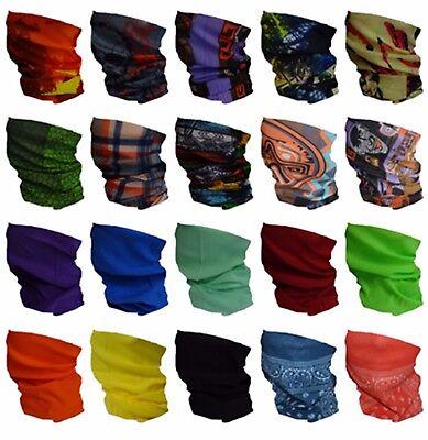Multi Polyester (Multifunktionstuch Schlauchtuch Halstuch Kopftuch Bandana Motorrad Fahrrad Tuch)