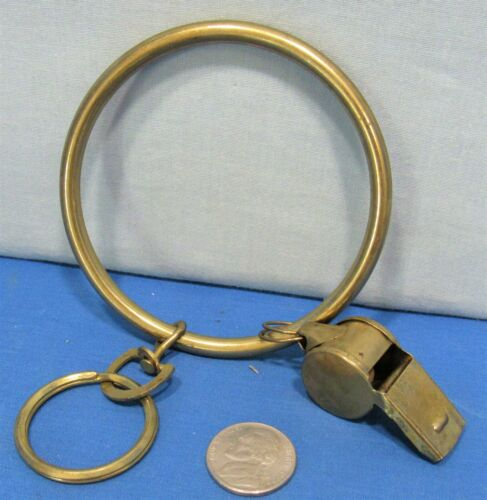 Brass Jailers Key Ring ~ Brass Policeman
