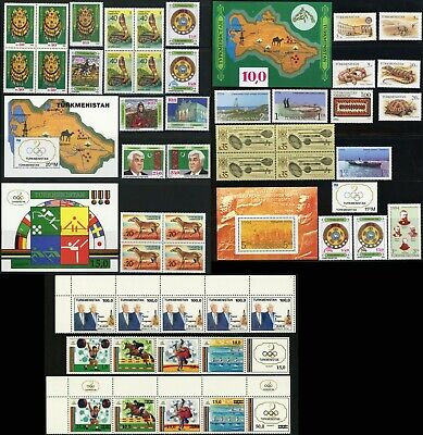 TURKMENISTAN Postage Stamps Sheets Collection Asia 1992-1994 Mint NH