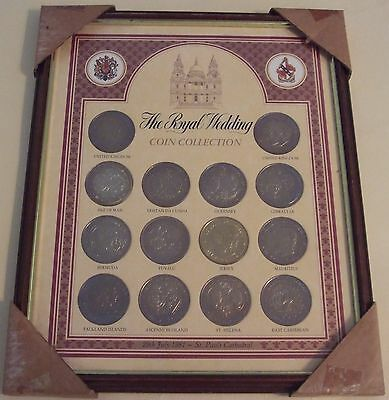 ROYAL WEDDING FRAMED 1981 COIN COLLECTION CHARLES & DIANA C/W CERTIFICATE