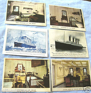 6-RMS-TITANIC-Card-Photos-Vintage-Antique-Old-Ship-Retro-Boat-Art-Illustration