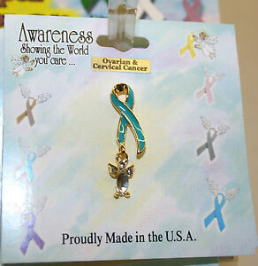 Cancer Awareness Angel Pins for Breast Cancer Plus 8 Other Types of Cancer