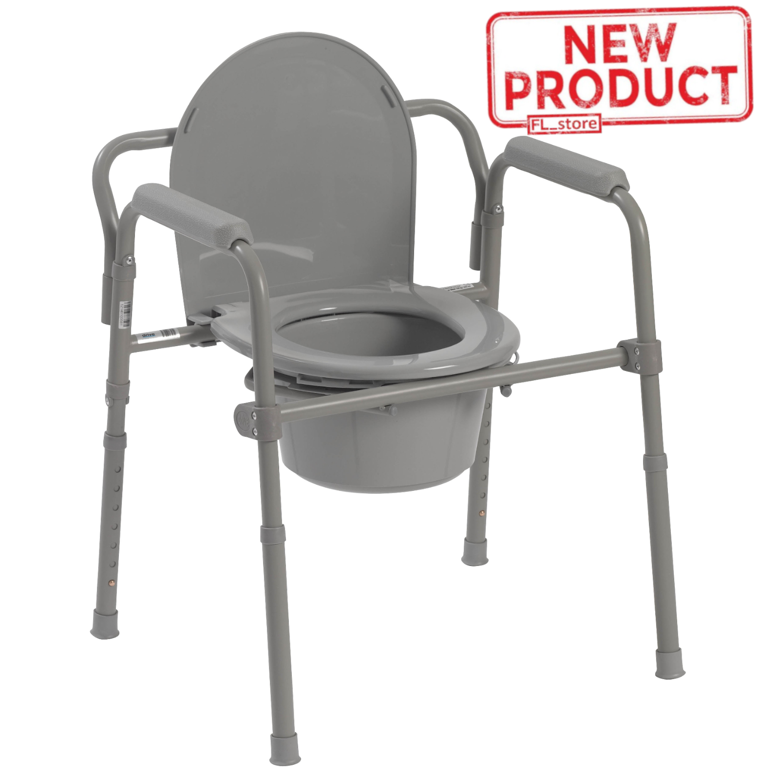 Adult Toilet Seat Potty Chair Folding Commode Chamber Bedsid