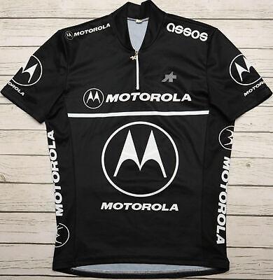 MOTOROLA - ASSOS - genuine vintage short sleeve MEN'S BLACK JERSEY - size L