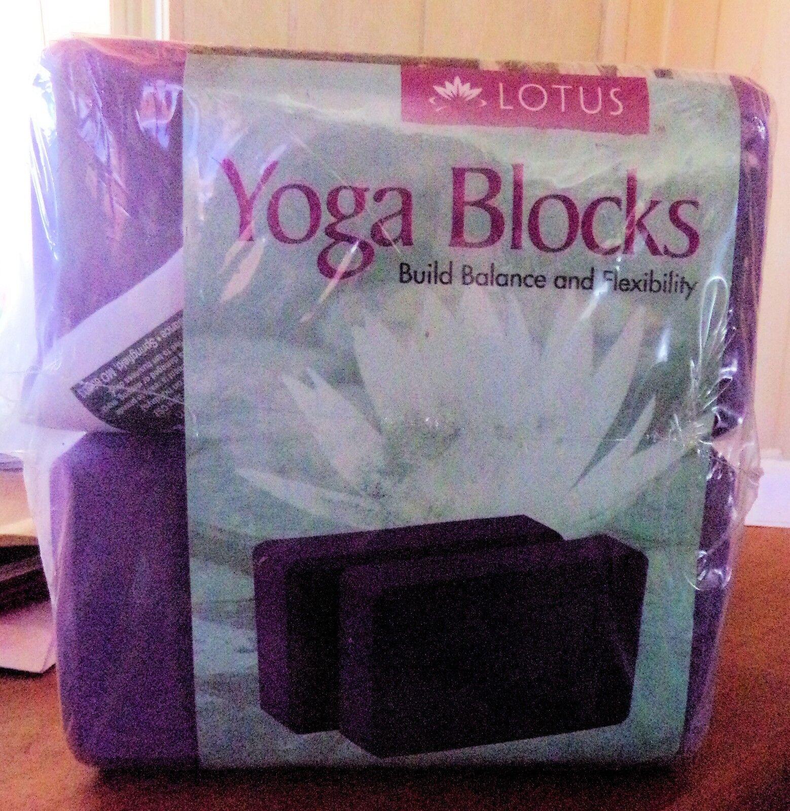 Lotus Yoga Blocks Foam 2 Pack Purple-Build Balance and Flexi