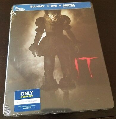 IT (2017) Blu-ray + DVD + Digital Copy Best Buy Limited Edition STEELBOOK