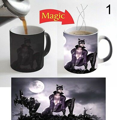 Catwoman Kids Cartoon Magic Mug Color Change Coffee Mug 11 Oz for Christmas Gift (Catwoman For Kids)