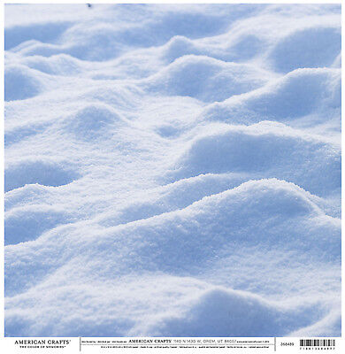 PHOTO SNOW 12x12 Double-Sided Scrapbooking (2)PCS - Double Sided 12x12 Scrapbook Paper