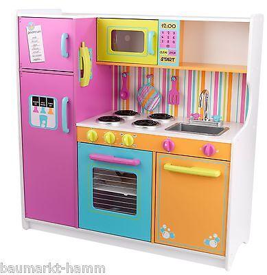 KIDKRAFT Große helle Deluxe KINDERKÜCHE 53100   Küche Spielküche