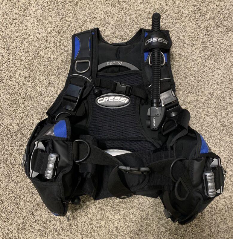 Cressi Aquaride Men's Scuba Diving BCD Blue Size Large