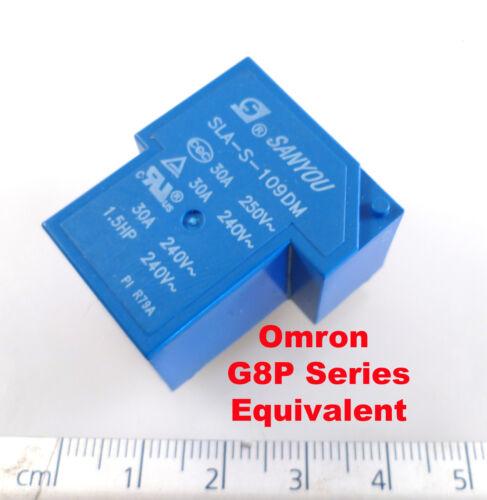 Sanyou SLA-S-109DM Relay Omron G8P-1A4P Copy SPNO 9VDC Coil 30A 250VAC OM1145A