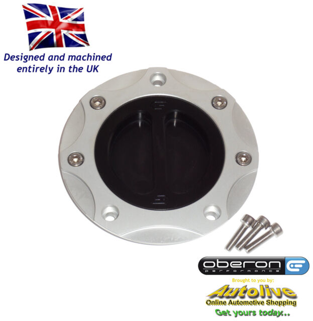 Oberon Kawasaki ZRX1200 Fuel/Gas/Race Cap Kit #FUE-0410-SILVER-BLACK