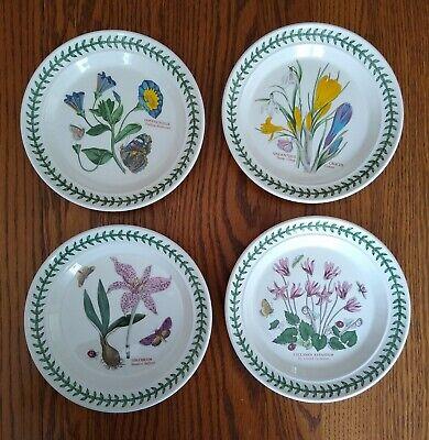 "Portmeirion The Botanic Garden 4 Bread and Butter Plates 7 3/8"" Vintage 1972"