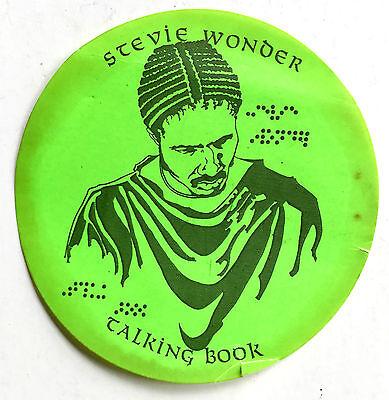 "VINTAGE 1972 STEVIE WONDER ""TALKING BOOK"" ORIGINAL ADVERTISING STICKER / DECAL"
