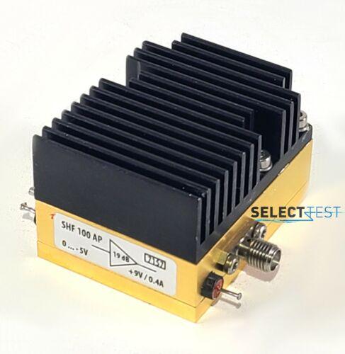 SHF-100AP 30 kHz to 25 GHz, 18dB WIDEBAND RF AMPLIFIER  ***LOOK*** (REF.: 157G)
