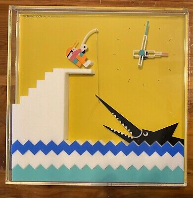 Jeco (Japan) Action Clock Fishing Movement Wall Clock Late 60's-early 70's