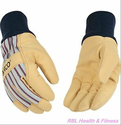 Kinco 1927kw Lined Premium Grain Insulated Gloves - Pigskin Palm W Knit Wrist