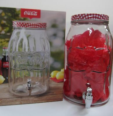 Coca-Cola Large Glass Beverage Dispenser - HOLDS 2 GALLONS!
