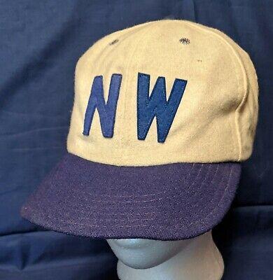 1950s Mens Hats | 50s Vintage Men's Hats Vtg NORTHWESTERN University Fitted Ball Hat Cap 1940's 1950's Wool $36.95 AT vintagedancer.com