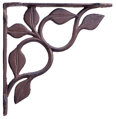 Wall Shelf Bracket Brace Leaf Vine Cast Iron Custom Shelving Crafting (Custom Wall Shelf)