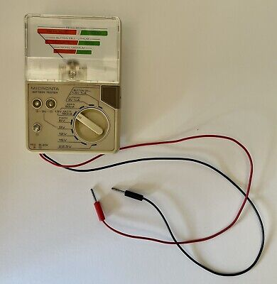 Micronta Radio Shack 22-032A Battery Tester with Cables - tested